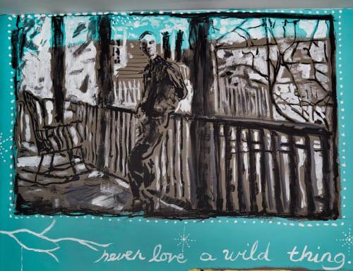 Paintings by Lisa Warren seen at NU Hotel, Brooklyn - Truman Capote at the Nu Hotel, Brooklyn, NY