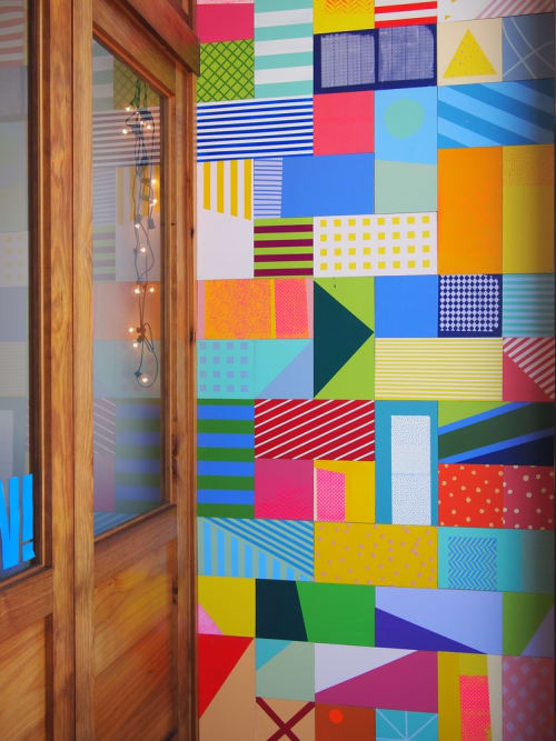 Murals by Leah Rosenberg seen at Workshop Residence, San Francisco - Color Wall Entryway