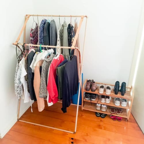 Furniture by Oak & Hide seen at Private Residence, Brisbane - Clothes Rack