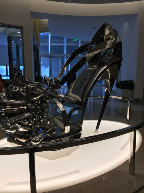Sculptures by Liao Yibai seen at MGM National Harbor Resort & Casino, Oxon Hill - Cinderella Shoe