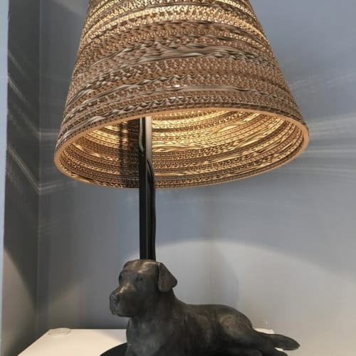 Lamps by Graypants seen at Private Residence, Watlington - Recycled Cardboard Shades