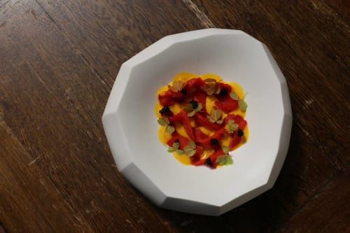 Tableware by Manos Kalamenios seen at Lima London, London - Stoneware Mallow Porcelain