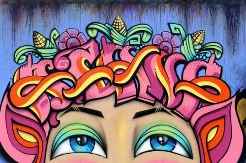 DJ Agana (Vanessa Espinoza) - Street Murals and Public Art