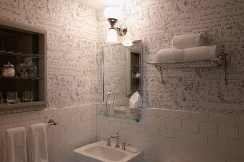 Water Fixtures by Rohl seen at Soho Grand Hotel, New York - Arcana 3-hole Widespread Faucet