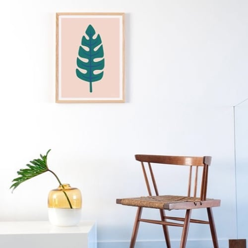 Paintings by Honey & Bloom seen at Honey & Bloom Studio, San Francisco - Palm Leaf