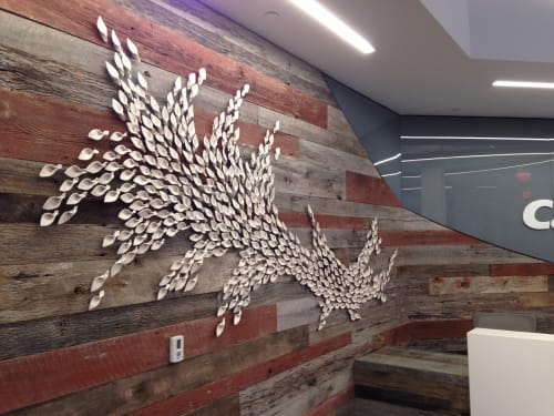 Wall Treatments by Whitney Forsyth seen at Capital One Eastgate Metroplex Call Center, Tulsa - Ceramic Wall Art