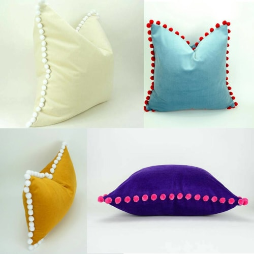 Pillows by Willow & Moon Home seen at Private Residence, London - Pom Cushion