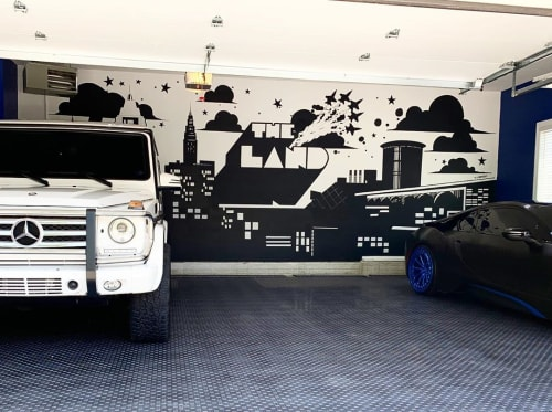 Murals by Tim Carmany seen at Private Residence, Cleveland - Cleveland and Skyline Mural