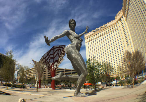 Public Sculptures by Marco Cochrane seen at The Park, Las Vegas - Bliss Dance