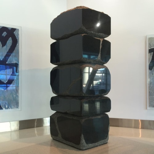 Sculptures by Seiji Kunishma at San Francisco International Airport, San Francisco - Stacking Stones