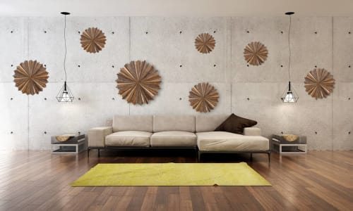 Sculptures by Craig Forget seen at Private Residence, Essex - Starburst Wall Installation