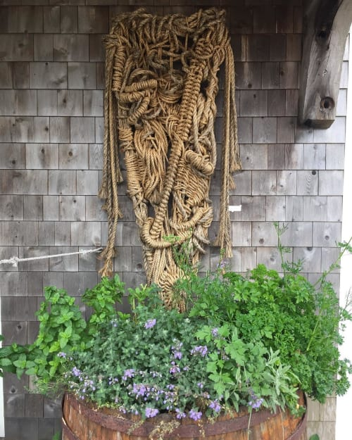 Macrame Wall Hanging by Susan Beallor Snyder seen at Beal's Lobster Pier, Southwest Harbor - Summer Dream