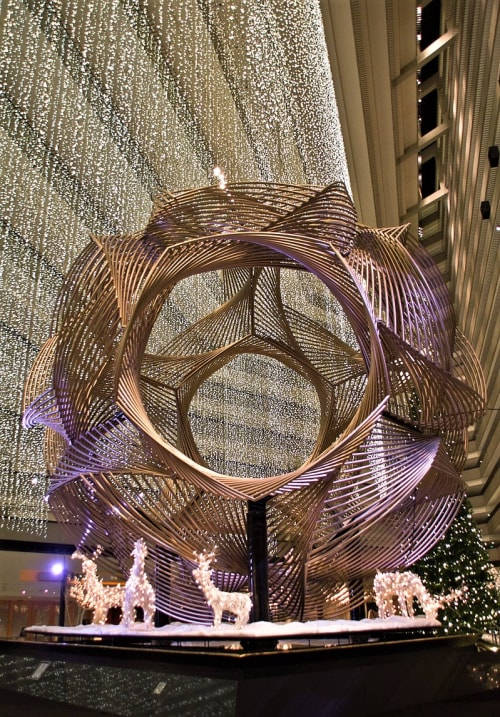 Sculptures by Charles O. Perry seen at Hyatt Regency, SF, San Francisco - Eclipse