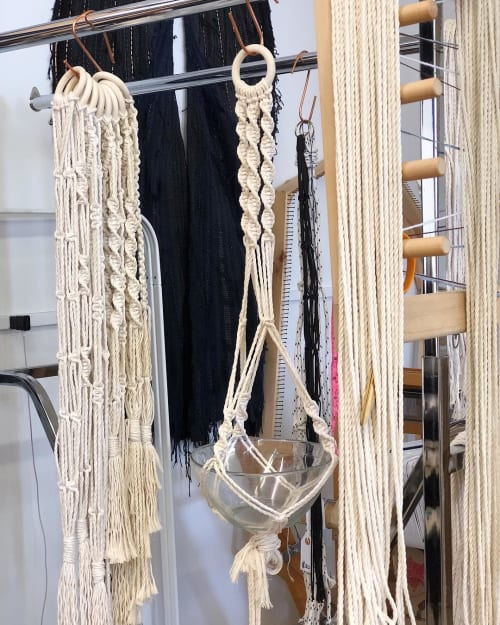 Wall Hangings by Emily Nicolaides seen at 68 Home, Richmond - Macrame Plant Hangers