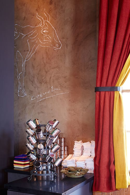 Wall Treatments by Caroline Lizarraga seen at Coqueta, San Francisco - Decorative Wall Paintng