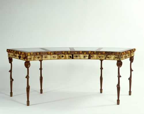 Tables by Cheryl R. Riley seen at San Francisco Museum of Modern Art - SFMOMA, San Francisco - Zulu Renaissance Writing Table for a Lady
