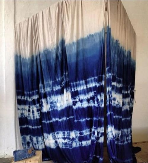 Wall Hangings by Lookout and Wonderland seen at General Store - Venice, Los Angeles - Indigo Shibori Dressing Room