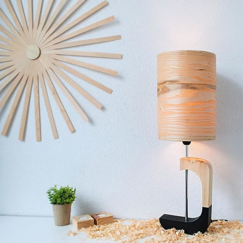Lamps by Wood U Light seen at Private Residence, Athens - Wood Lamp