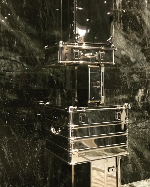 Sculptures by Bruno Billio seen at The Hazelton Hotel, Toronto - Tower Suitcases