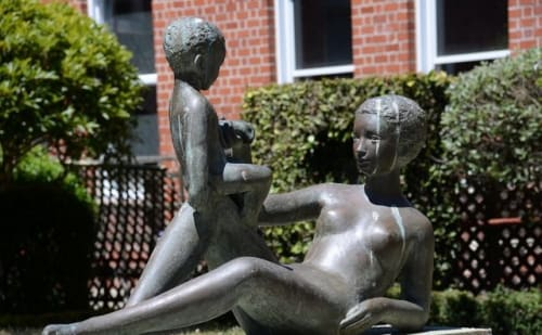 Sculptures by Ursula Malbin seen at Jewish Senior Living Group, San Francisco - Maternite