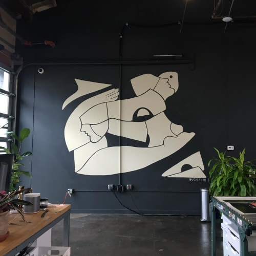 Murals by Buckley (Sarah Buckley) seen at Kamp Grizzly, Portland - Mural