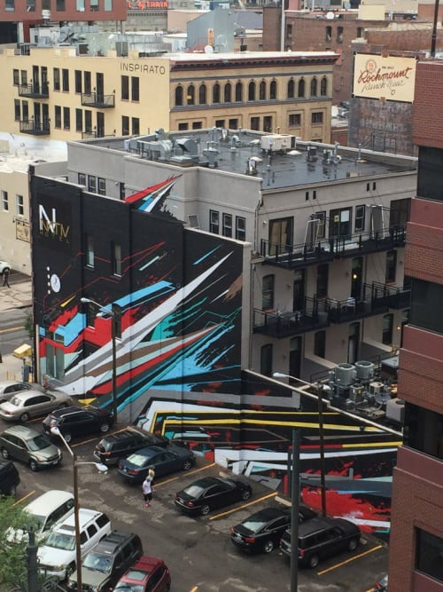 Street Murals by Michael Ortiz seen at NATIV Hotel Denver, Denver - Abstract Mural