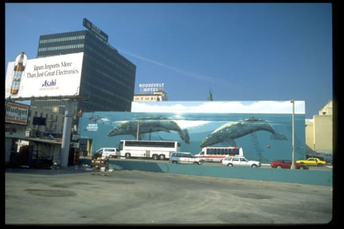 Street Murals by Wyland at 6925 Hollywood Blvd., Los Angeles, CA, Los Angeles - Whaling Wall Number 62