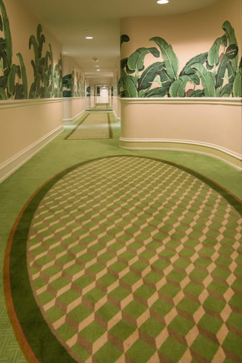 Rugs by Innovative Carpets seen at The Beverly Hills Hotel, Beverly Hills - Corridor Carpet
