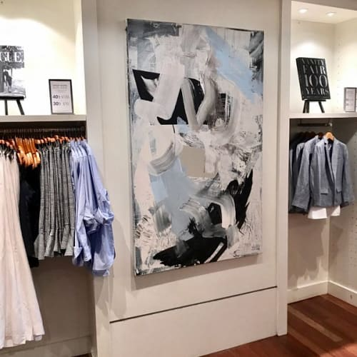 Paintings by Jeffrey Nemenzo seen at Banana Republic Embarcado, San Francisco - Abstract Piece