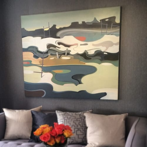 Paintings by Jeff Quinn seen at Private Residence, Brooklyn, NY, Brooklyn - Pool