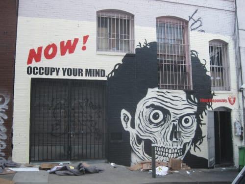 Street Murals by Ezra Li Eismont seen at Hemlock Alley, San Francisco, San Francisco - Zombie Michael
