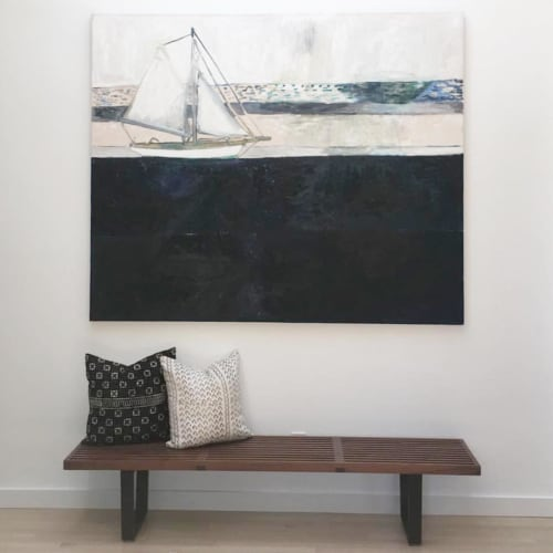 Paintings by Anne-Louise Ewen seen at Private Residence, La Mesa - Sea and Sailboat