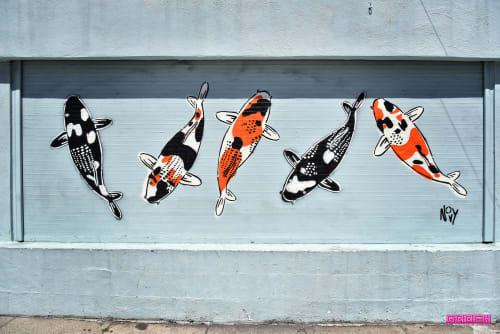 Street Murals by Jeremy Novy seen at 365 10th Street , San Francisco, San Francisco - 5 Koi