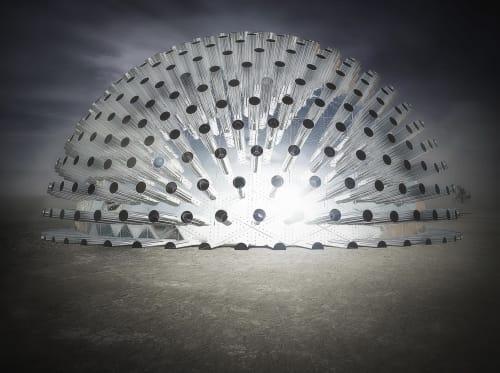 Sculptures by Pooya Kamranjam seen at Burning Man 2017 - Desert Eyes