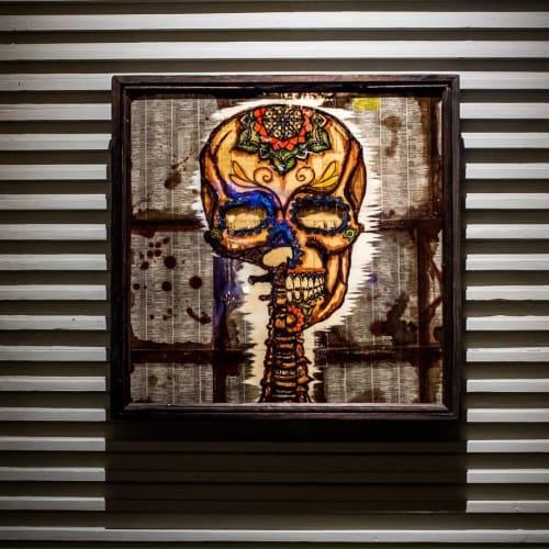 Paintings by Andrew Atkinson seen at Mercado Los Angeles, Los Angeles - Mixed Media Art