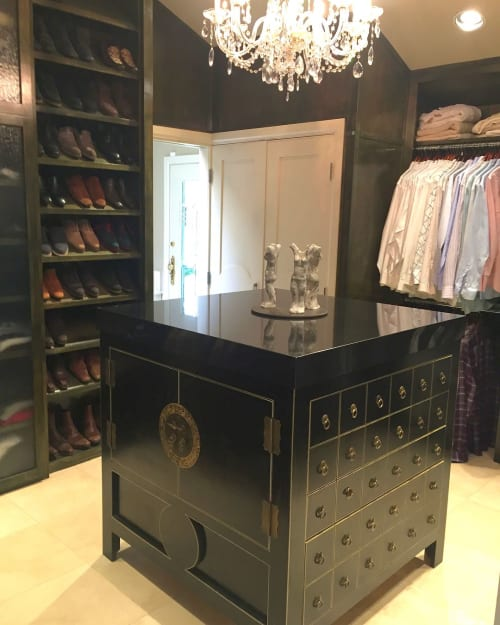 Furniture by Graeber Design seen at Private Residence, Oklahoma City - Closet