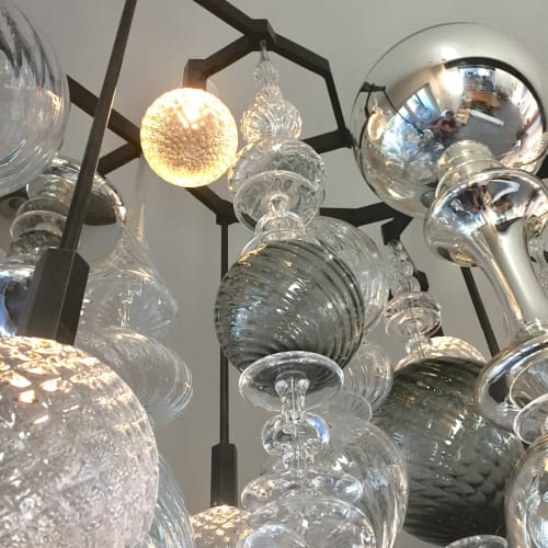 Chandeliers by Andy Paiko seen at Lake Tahoe - Glass Chandelier