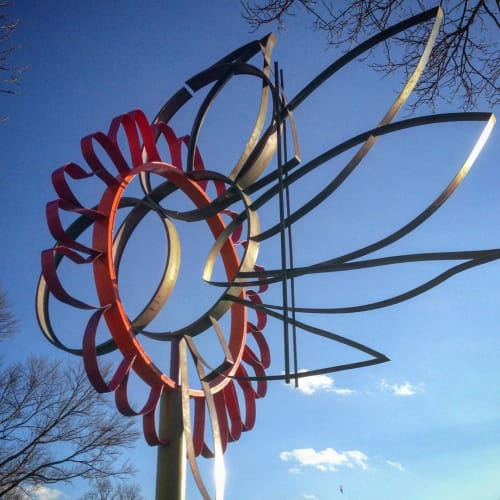 Public Sculptures by Howard Connelly seen at Prince George's County: Department of Environmental Resources, Upper Marlboro - Big Flower Windvane