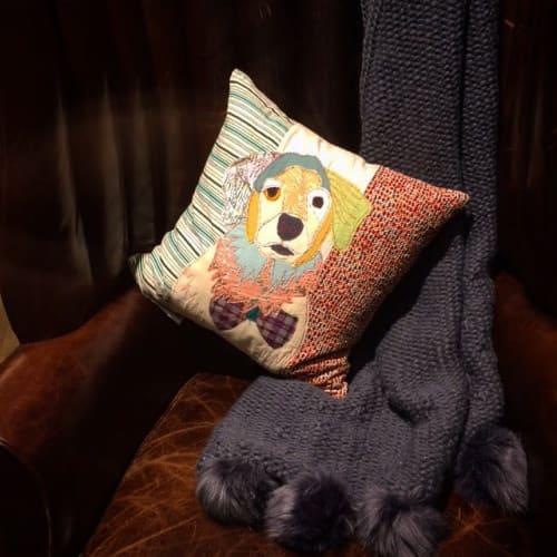 Pillows by Carola Van Dyke Studio seen at Anthropologie, London - Cushions