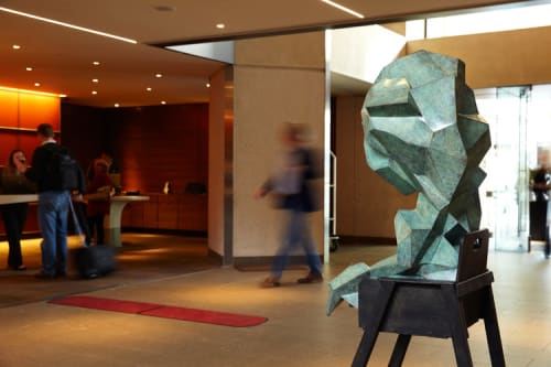 Sculptures by Jud Bergeron seen at Grand Hyatt San Francisco, San Francisco - The Crystalline Baby