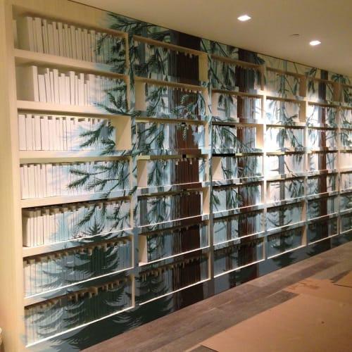 Murals by Megan Lingerfelt seen at Microsoft Building 111, Redmond - Mural