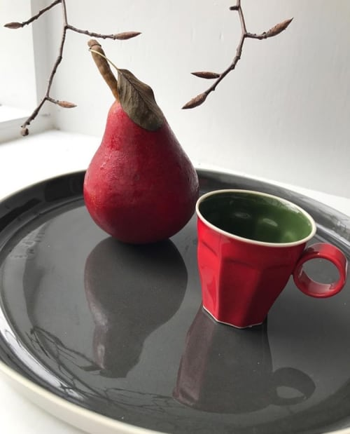 Tableware by Santimetre Studio by Tulya Madra seen at Le Bonnton, Northampton - Fine Porcelain Accents In Red