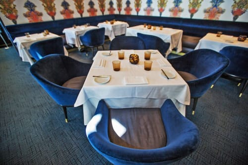 Chairs by House Of Honey seen at Providence, Los Angeles - Dark Blue Velvet Chair
