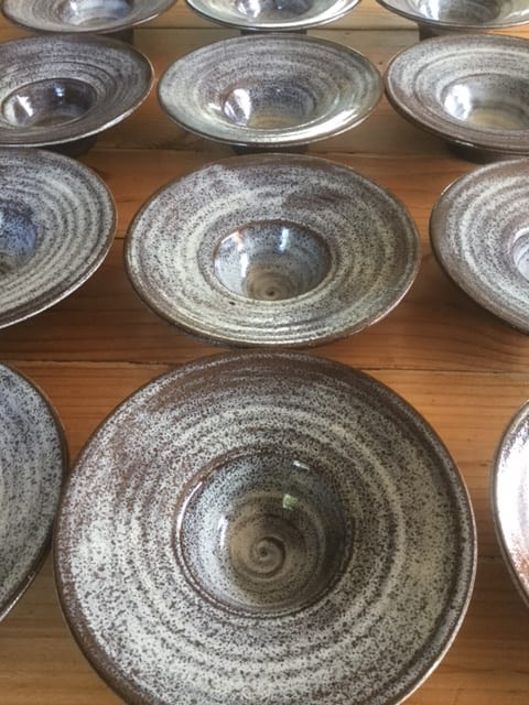 Tableware by Akiko's Pottery seen at Commis, Oakland - Handmade Bowl