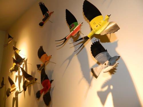 Sculptures by Paul Villinski seen at Hotel Zetta, San Francisco - Vinyl LP Bird