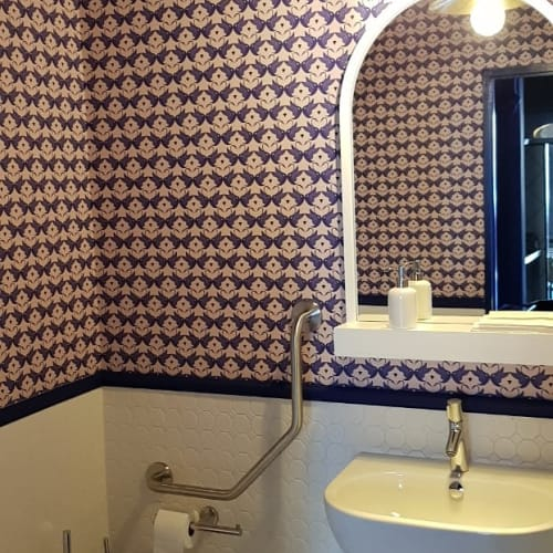 Wallpaper by Heidi Chisholm seen at Swan Cafe, Cape Town - Swan