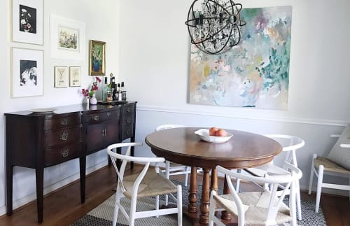 Paintings by Marcy Cook seen at Mary Cook Home Studio - The Spaces Between - Floral Series