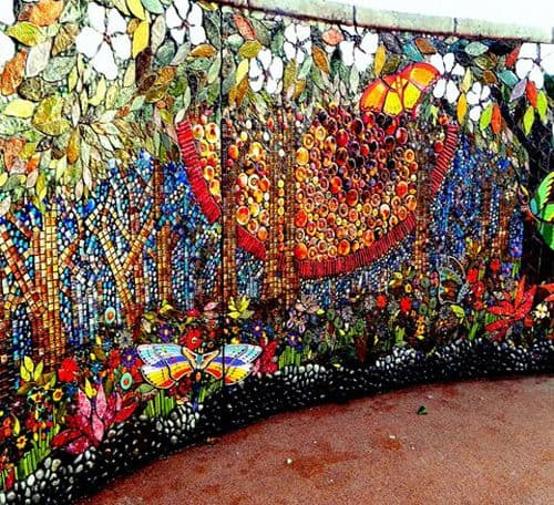 "Street Murals by Juliana Martinez seen at Crossings On 29th Street, Los Angeles - ""Nature's Symphony"""
