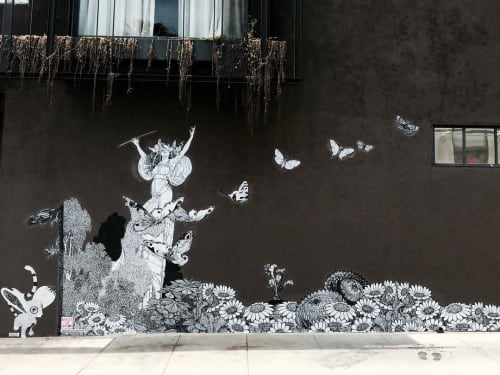 Murals by Made of Hagop seen at Gjelina, Los Angeles - Vespertine