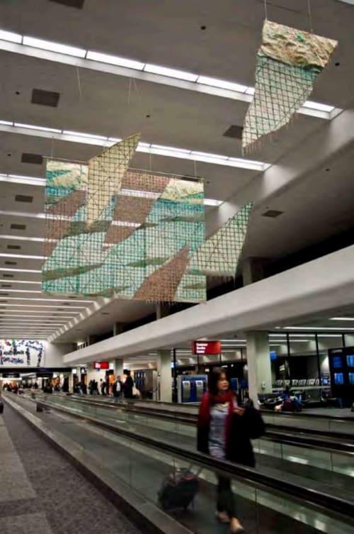 Paintings by Nance O'Banion seen at San Francisco International Airport, San Francisco - Billboard Series